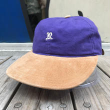 "RUGGED on vintage  ""OLD R"" adjuster cap (Purple/Beige)"