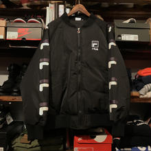 【残り僅か】FILA sleeve logo MA-1 (Black)