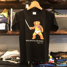 "【残り僅か】RUGGED ""POLO JINGI""kids tee(Black)"