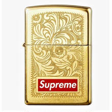 【ラス1】Supreme Engrawed Brass zippo lighter (Gold)