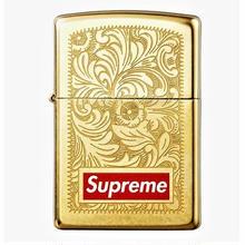 【ラス1】Supreme Engrawed Brass zippo lighter (Gold)