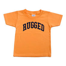 "【残り僅か】RUGGED ""ARCH LOGO"" kids tee(Orange×Navy)100cm"