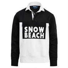 "【Exclusive】POLO RALPH LAUREN ""SNOW BEACH "" RUGBY SHIRT (Black&White)"
