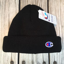 【ラス1】Champion C WAPPEN BEANIE (Black)