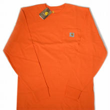 【残り僅か】Carhartt L/S pocket tee (Orange)