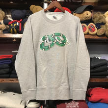 "【残り僅か】GUALA ""GEL BOX"" sweat (Gray/Green)"