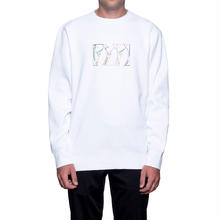 【残り僅か】HUF MALIBU EMBROIDERED CREW FLEECE(White)