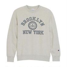 """【ラス1】Champion """"BROOKLYN NEW YORK"""" crewneck sweat (Oatmeal)"""