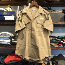 "RUGGED on vintage ""ARCH LOGO"" military shirt ( Beige)"