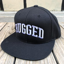 "【ラス1】RUGGED ""ARCH LOGO"" snapback (Black×White)"