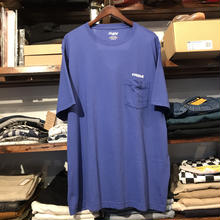 "RUGGED on vintage ""ARCH LOGO"" pocket tee (Blue)"