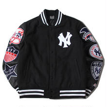 【残り僅か】Majestic WAPPEN STADIUM JACKET (Black)
