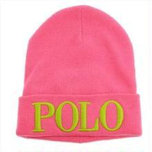"POLO RALPH LAUREN ""POLO"" knit cap(Pink)"