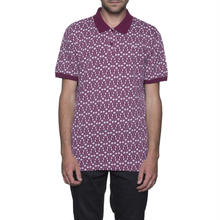 【ラス1】HUF  ESCHER POLO (Burgundy)