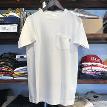 RUGGED on Champion Basic pocket tee (Off White)