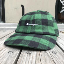 【ラス1】Champion Wool Check adjuster cap (Green)