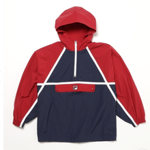 【残り僅か】FILA anorak pull-over nylon jacket (Red)