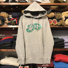 "【ラス1】GUALA ""SNAKE"" sweat hoody(Gray/Green)"
