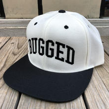 "RUGGED ""ARCH LOGO"" snapback (White×Black)"