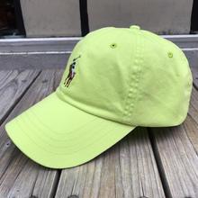 """【残り僅か】POLO RALPH LAUREN """"8bit pony '' logo adjuster cap (Lime yellow)"""
