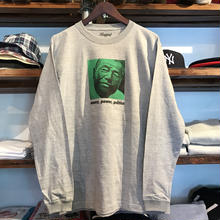 "【残り僅か】RUGGED ""money, power, politics"" L/S tee (6.6 oz./Gray)"
