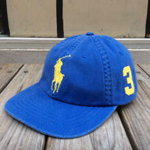"【残り僅か】POLO RALPH LAUREN ""BIG PONY"" adjuster cap (Blue × Yellow)"