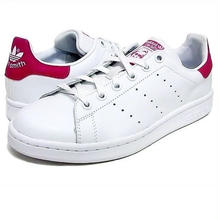 "【ラス1】adidas ""STAN SMITH"" J (White×Pink/Ladies)"