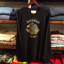 "【残り僅か】DENIM&SUPPLY ""Rebels Custom Rides"" waffle thermal (Black)"