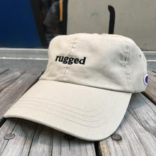 "【残り僅か】RUGGED on Champion ""rugged"" adjuster cap(Beige)"