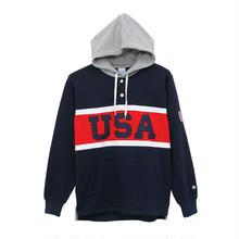【残り僅か】Champion ''USA'' pullover sweat hoodie  (Navy)