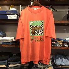 【残り僅か】FILA big logo leopard tee(Light Orange)