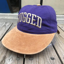 "RUGGED on vintage  ""ARCH LOGO"" adjuster cap (Purple/Beige)"