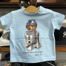 "【KIDS】RUGGED ""POLO2-D2""kids tee(Light Blue)"