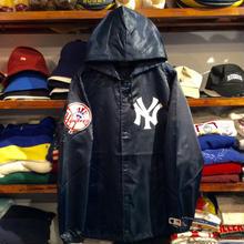 """【ラス1】Majestic """"NY"""" hooded coach jacket (Navy)"""