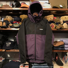 "RUGGED ""Real/Fake"" nylon shell parka (Purple)"