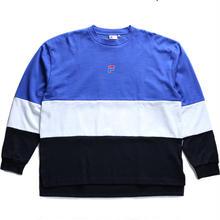 【残り僅か】FILA Tricolore L/S tee (Blue)