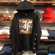 """【残り僅か】FESC on Champion """"F-LOGO"""" sweat hoodie(Black)"""