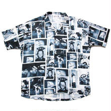 【残り僅か】Mark Gonzales Photo open collar S/S shirt (White)