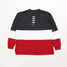 【残り僅か】FILA Tricolore L/S tee (Red)