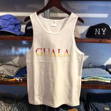 【ラス1】GUALA logo tank top (White)