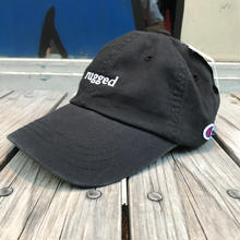 "【残り僅か】RUGGED on Champion ""rugged"" adjuster cap(Black)"