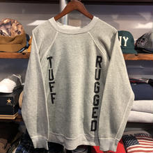"RUGGED on vintage ""TUFF RUGGED"" raglan sweat ①"