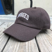 "RUGGED ""ARCH LOGO"" wool adjuster cap (Brown)"