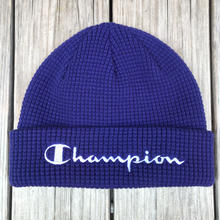 【残り僅か】Champion logo beanie (Purple)