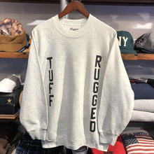 "RUGGED on vintage ""TUFF RUGGED"" raglan sweat ③"