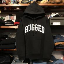 """RUGGED """"ARCH LOGO"""" sweat hoodie (Black/10.0oz)"""