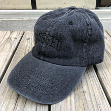 RUGGED ''ARCH LOGO'' adjuster cap (Black Denim × Black)