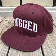 "RUGGED ""ARCH LOGO "" snapback (Burgundy×White)"