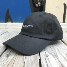 """【残り僅か】RUGGED """"RUGGED"""" cursive logo adjuster cap  (Black)"""
