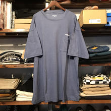"RUGGED on vintage ""ARCH LOGO"" pocket tee (Light Navy)"